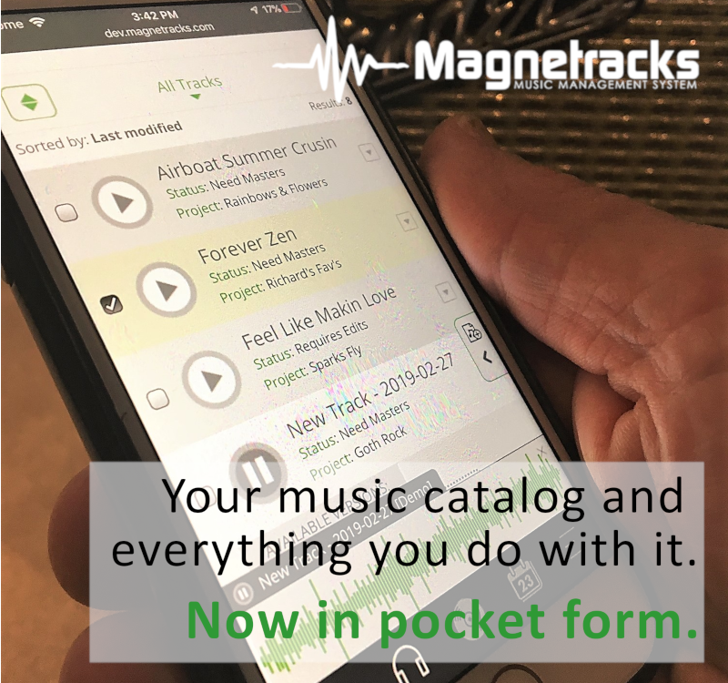 Magnetracks Mobile lets your take your music catalog with you!